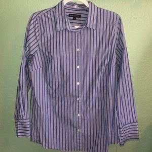 Banana republic Riley shirt, blue/white stripes
